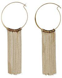Pilgrim - Metallic Gold Plated Curb Chains Hoop Earrings - Lyst