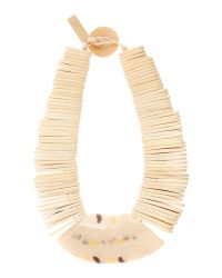 Max Mara | White Gamma Stacked Necklace With Large Front Piece | Lyst