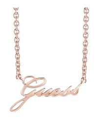 Guess | Multicolor Signature Ubn82058 Logo Necklace | Lyst
