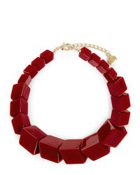 Jaeger - Red Renee Resin Cube Necklace - Lyst