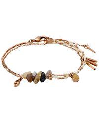 Pilgrim - Metallic Summery Rose Gold Bracelet With Stones - Lyst