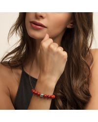Thomas Sabo - Rebel At Heart Mala Red Coral Bracelet - Lyst