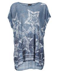 Izabel London - Blue Star Print Smock Top - Lyst