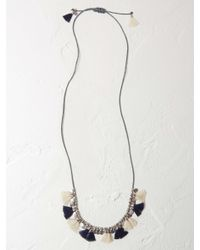White Stuff - Metallic Holly Tassel Necklace - Lyst