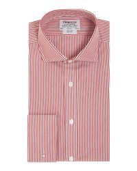Tm Lewin | Red Stripe Slim Fit Long Sleeve Cutaway Collar Shirt for Men | Lyst