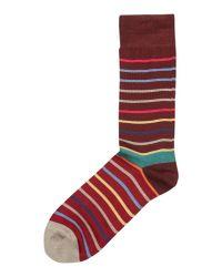 Paul Smith - Red Echo Stripe Sock for Men - Lyst