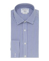 Tm Lewin - Blue Bengal Stripe Fully Fitted Long Sleeve Shirt for Men - Lyst