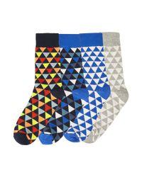 Jack & Jones - Blue 4pk Jacpete Ankle Sock for Men - Lyst