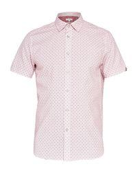 Ted Baker | Pink Angaz Angaz Dot Print Shirt for Men | Lyst