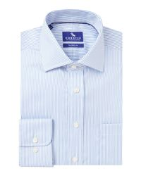 Chester Barrie - Blue Twill Stripe Tailored Fit Shirt for Men - Lyst