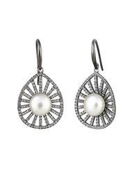 Jersey Pearl | Metallic Freshwater Pearl Earrings | Lyst