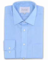 Double Two - Blue Paradigm King Size Single Cuff Pure Cotton Shirt for Men - Lyst