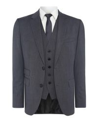 HUGO - Gray Jim-simmons Three Piece Regular Fit Textured Suit for Men - Lyst