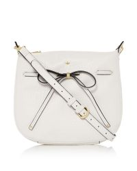 Nica - White Bow Tie Crossbody - Lyst