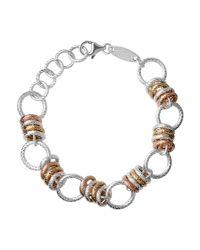 Links of London - Brown Aurora Sterling Silver Large Link Bracelet - Lyst
