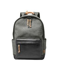 Fossil | Gray Defender Backpack | Lyst