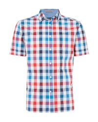 Howick | Blue Redland Gingham Short Sleeve Shirt for Men | Lyst