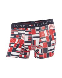 Tommy Hilfiger - Men's Icon Flagblock Trunks, Red Men's In Red for Men - Lyst