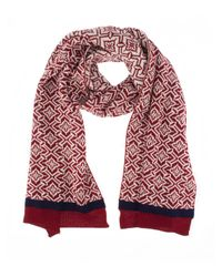 Dents - Red Womens Nordic Knit Scarf - Lyst