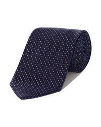 HUGO | Blue Pin Dot Tie for Men | Lyst
