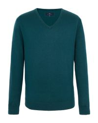 Paul Costelloe | Green Mansion V Neck Merino Jumper for Men | Lyst