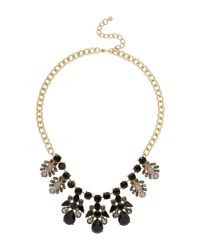 Mikey - Black Fillagary Design Pendant On Chain Neckla - Lyst