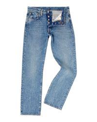 ba7c7e22 Levi'S Men's 501 Regular Fit Crosby Jeans in Blue for Men - Lyst