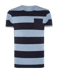 Criminal - Blue Men's Dixon Colour Block Tshirt for Men - Lyst