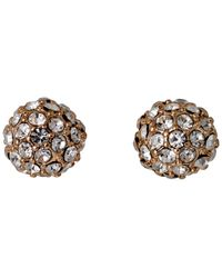 Pilgrim - Metallic Round Shaped Earrings - Lyst
