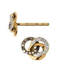 Links of London - Metallic Treasured Gold & Diamond Stud Earrings - Lyst