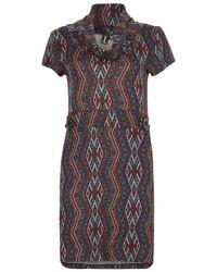 Izabel London | Multicolor Aztec Print Roll Neck Tunic Dress | Lyst
