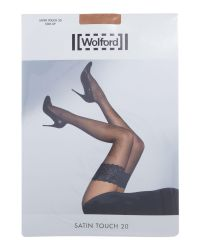 Wolford | Brown Satin Touch 20 Stay Up | Lyst