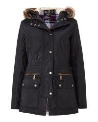 Barbour   Black Kelsall Waxed Jacket   Lyst