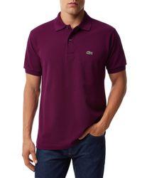 Lacoste - Purple Classic L.12.12 Polo for Men - Lyst
