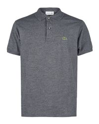 Lacoste | Gray 2 Ply Regular Pique Polo for Men | Lyst