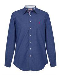 Thomas Pink | Blue Landguard Plain Regular Fit Casual Shirt for Men | Lyst