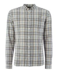 Label Lab | Red Pheonix Plaid Check Heavy Wash Long Sleeve Shirt for Men | Lyst