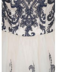 Chi Chi London - Blue Metallic Lace Tea Dress - Lyst