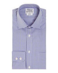 Tm Lewin | Blue Gingham Check Slim Fit Long Sleeve Formal Shirt for Men | Lyst