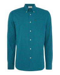 Barbour | Green Gingham Long Sleeve Collar Shirt Tailored Fit for Men | Lyst