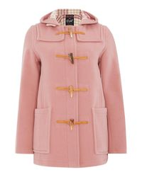 Gloverall | Pink Mid Length Slim Duffle Coat | Lyst