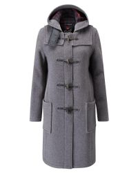 Gloverall | Gray Long Slim Duffle Coat | Lyst