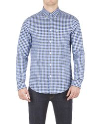 Ben Sherman - Blue House Gingham Check Long Sleeve Shirt for Men - Lyst