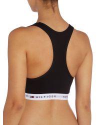 Tommy Hilfiger - Black Logo Crop Top - Lyst