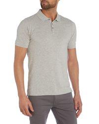Calvin Klein - Gray Paul Cotton Polo Shirt for Men - Lyst