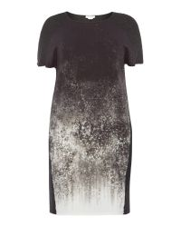 Persona | Black Plus Size Woven Print Panel Dress | Lyst