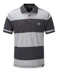 Tog 24 | Gray Bennett Stripe Mens Polo Shirt for Men | Lyst