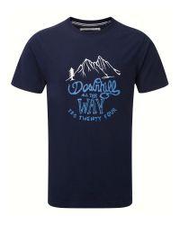 Tog 24 | Blue Galaxy Print Crew Neck Regular Fit T-shirt for Men | Lyst