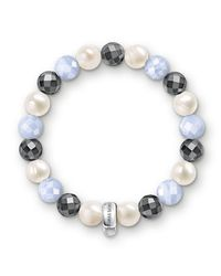 Thomas Sabo | Multicolor Charm Club Baby Blue Chalcedony Bracelet | Lyst