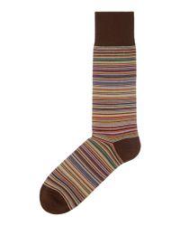 Paul Smith - Multicolor Striped Cotton-blend Ankle Socks for Men - Lyst